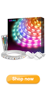 RGB Led Strip Lights Remote Control Color Changing Rope Lights Waterproof For Home Room Kitchen