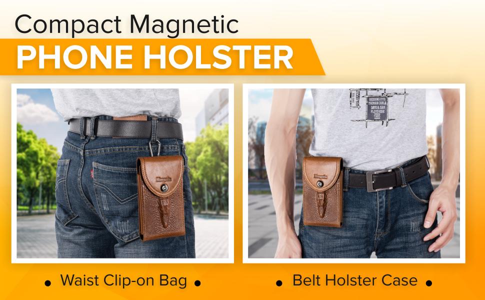 leather cell phone waist bag