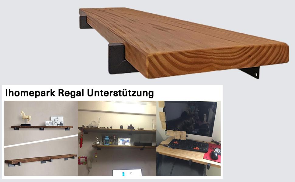 Träger für Wandregal Regalträger Halterung Regal Wandbefestigung Auflage Regal