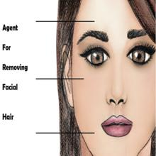 Agent for removing facial hairs