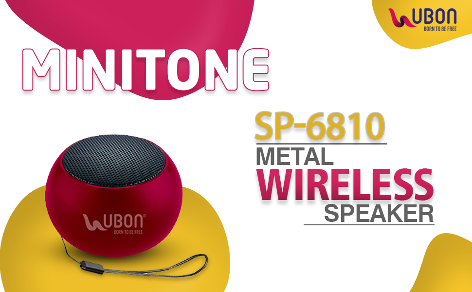 Ubon SP-6810 5W Wireless Bluetooth Portable Speaker SPN-FOR1
