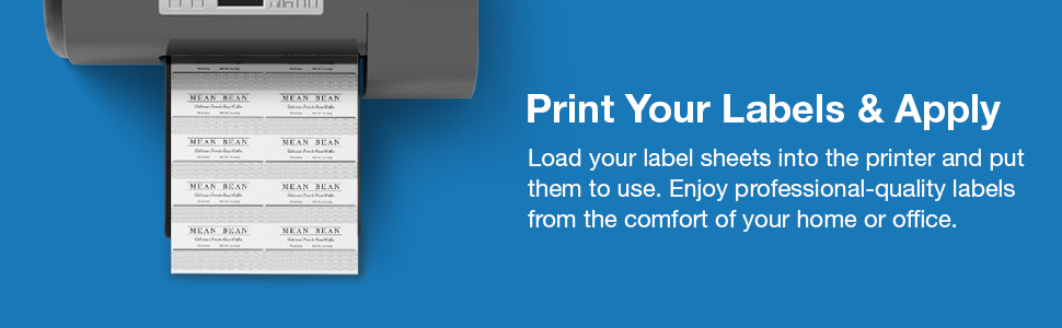print labels home office custom design product online