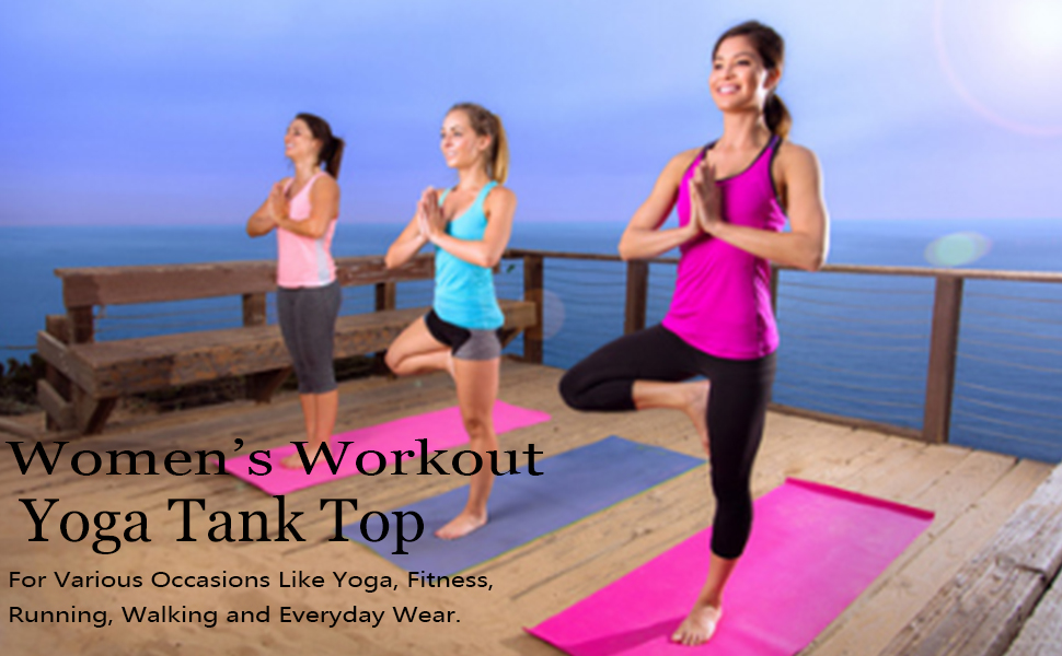 Felisou Womens Workout Yoga tank top sleveless shirts tops athletic top workou clothes for women
