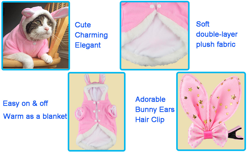 bunny rabbit costume for dogs cats