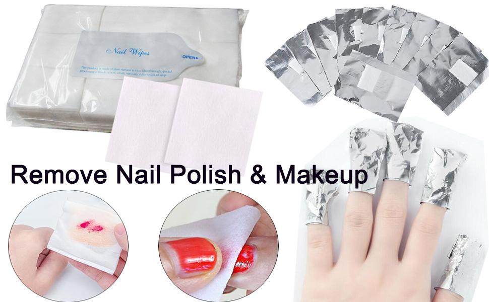 nail polish remover cotton pads wipe soak off  polish removal wraps makeup remover nail art supplies