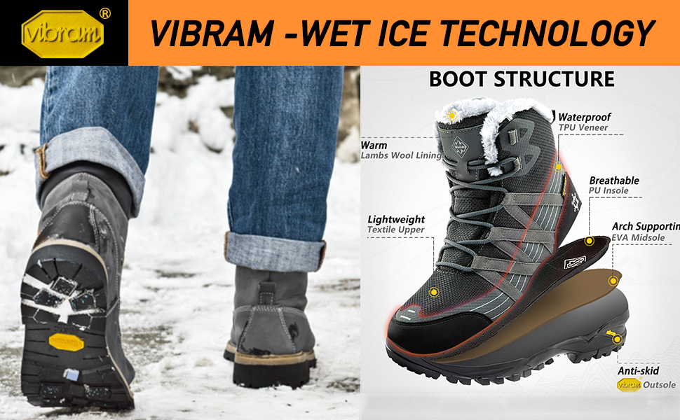 Wantdo Waterproof Lightweight Snow Boots