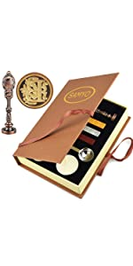 Initial Letter Wax Seal Stamp Set Copper