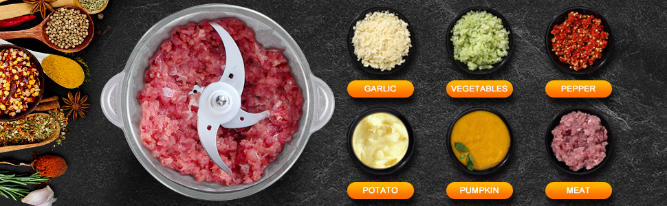 350W Food Processor for Meat Carrots Onion Garlic
