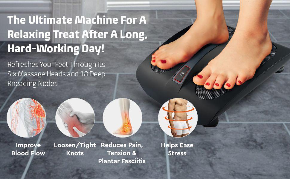 Amazon Com Belmint Shiatsu Foot Massager Machine With Heat 18