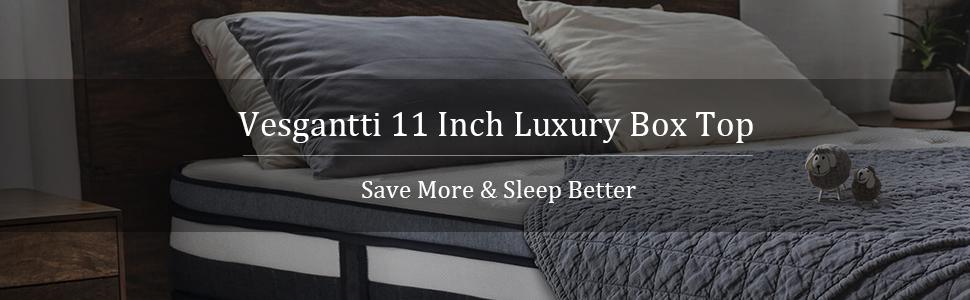 Vesgantti 11 Inch Luxury Box Top Mattress
