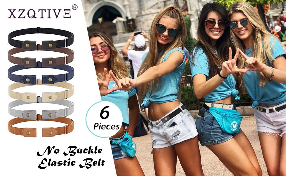 buckle free belt No Buckle Stretch Belt Women Men Elastic Waist Belt Up to 50 Inch for Jeans Pants