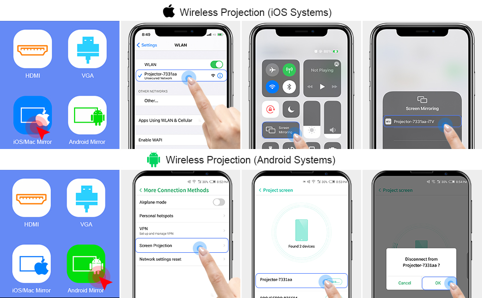 Wired/Wierless for Android/IOS
