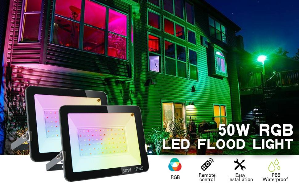 50w rgb flood light
