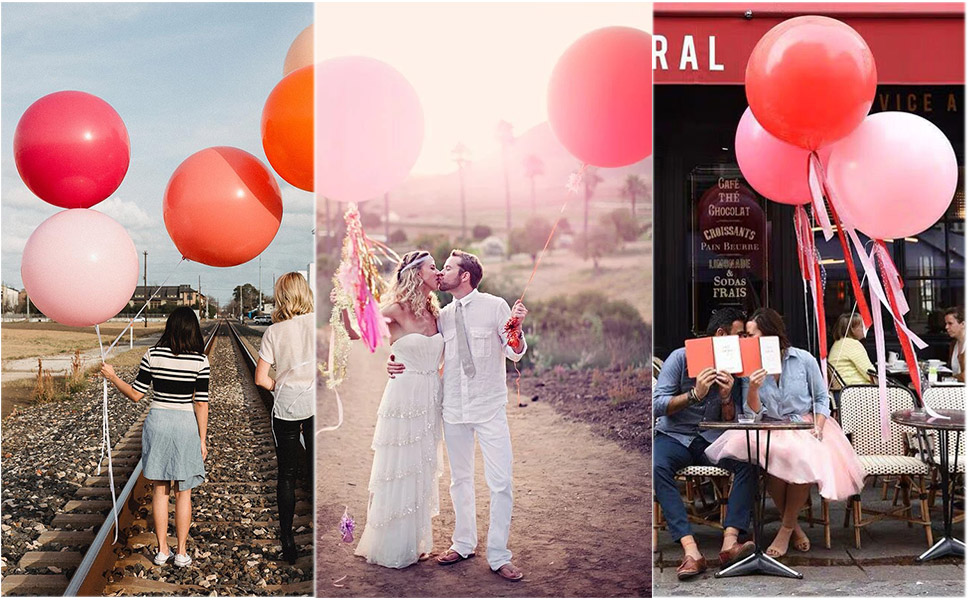 Party Balloon 36 Wedding Balloons Rustic Wedding Props Wedding Decorations Photography Props Fuchsia Giant Latex Balloon