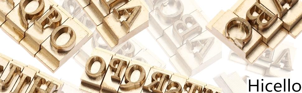 Alphabet Letter Font Stamp Mold