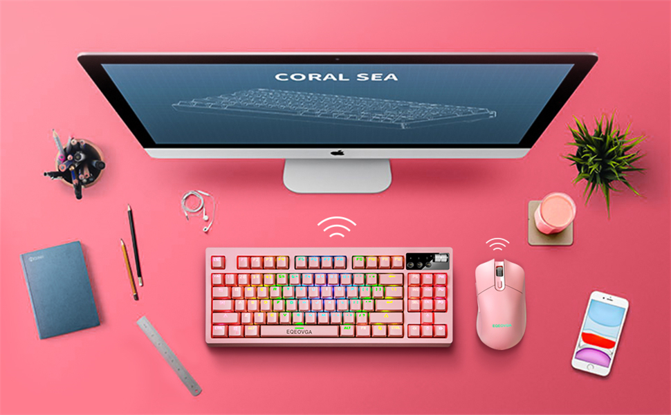 RGB wireless mechanical keyboard and mouse