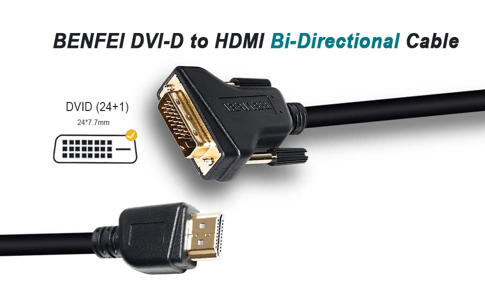 HDMI to DVI Cable Lot Xbox One X//One S//360 DVI to HDMI Cable - For Smart TV