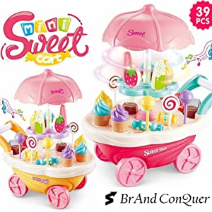 Sweet Cart, Baby Toy Sweet Cart, Candy Toy, Candy Stole