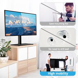 ATUMTEK Soporte Giratiorio de TV de 37 a 65 Pulgadas Altura Ajustable Soporte de Mesa para Televisión LCD LED OLED Plasma Plano Curvo de hasta 40 kg, máx. VESA 600x400 mm: Amazon.es: Electrónica