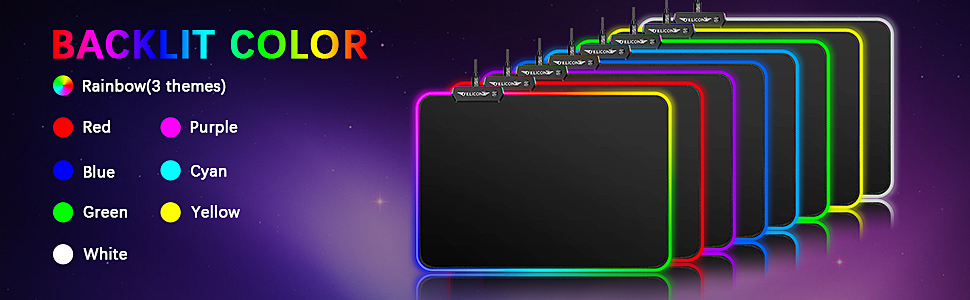 RGB Mouse Pad  Wired Keyboard and Mouse Mousepad Combo,Mechanical Feel Rainbow Backlit Gaming Keyboard Mouse,10 Color RGB Gaming Mice Pad 7 Color Mute Gaming La Souris for PC Laptop Mac 4587833a d467 4510 a7a9 6569dbbf6e0b
