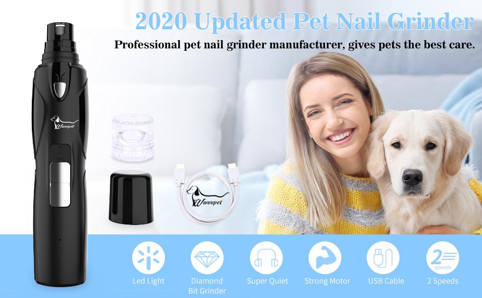 2020 Updated Pet Nail Grinder