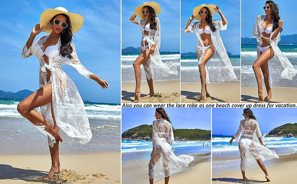 long lace robe