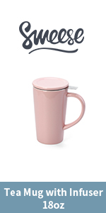 550ml Teacup with Infuser-Pink