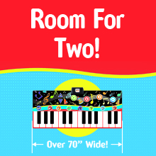 little performer music toys for kids and toddlers big piano mat room for two kids to play together