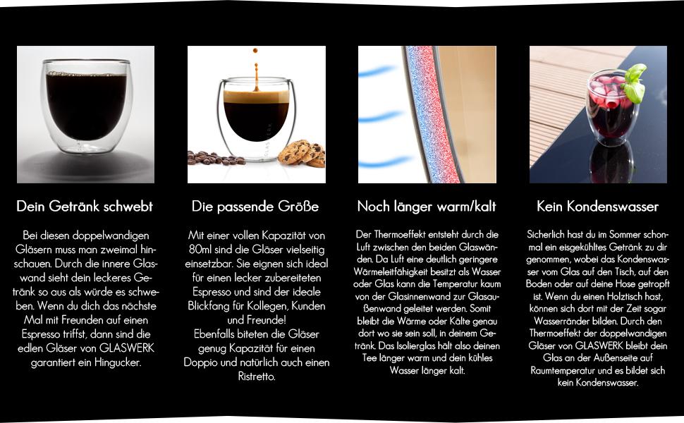 thermogläser Espresso glas