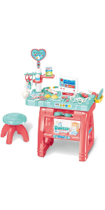Kids Doctor Kit Playset w Table & Chair