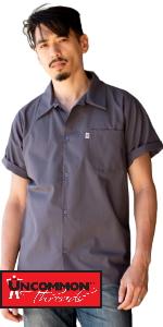 utility shirt line cook shirt dish washer simple kitchen uniform shirt short sleeve modern design