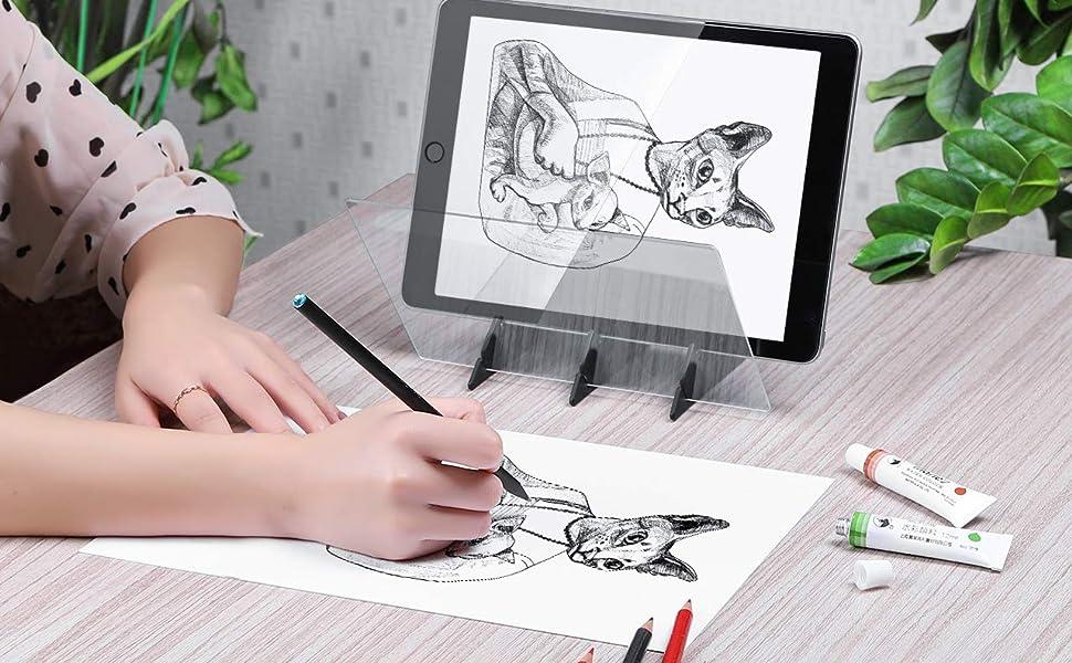 DIY Drawing Tracing Pad Optisches Bild Zeichenbrett Optische Linsen Sketch Wizard Malerei Optische Bildgebung Tracking-Platte Draw Projector Copy Pad f/ür Null-basierte Studenten Anf/änger Skizzieren