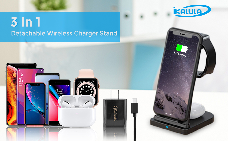 wireless charging stand 3 in 1