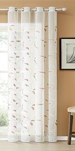 leaves sheer curtains