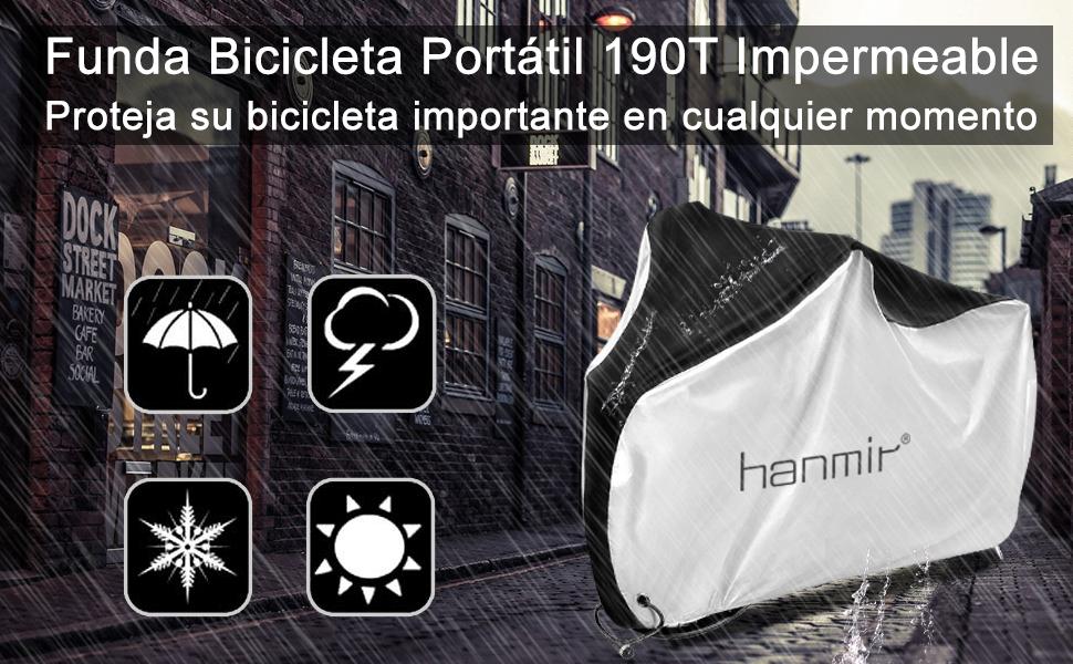 Hanmir Funda Bicicleta, Funda de Protección Bicicleta portátil ...