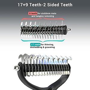 17+9 teeth
