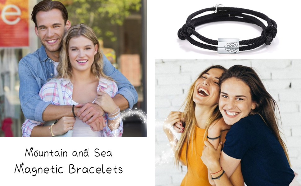 Mutual Attraction Rope Braided attract Couple Bracelets
