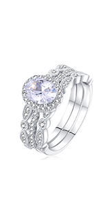 newshe wedding ring sets sterling silver wedding sets for women