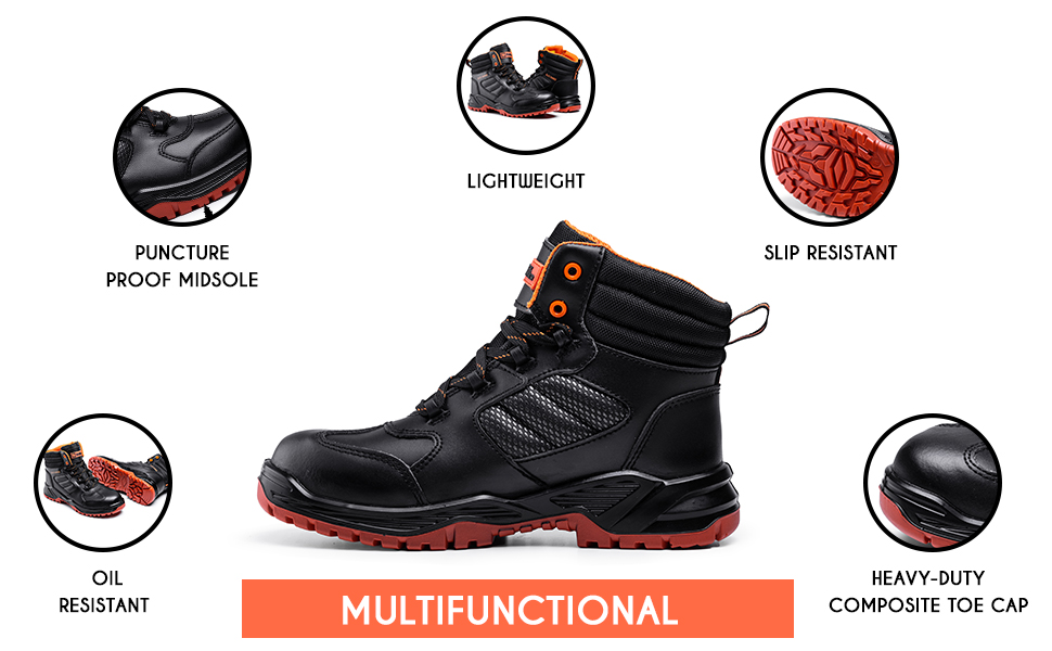 Safety Boots that are comfortable and has all the protect for any job Slip-resistant safety boots