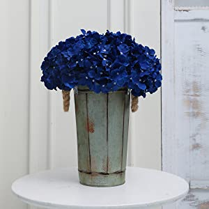 navy blue hydrangea flowers for home decor artifiical royal blue flowers house table