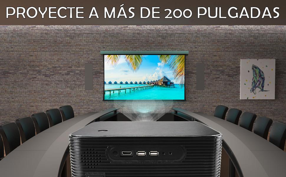 Proyecte a mas de 200 pulgadas con el videoproyector xsagon hl600 y disfrute del autentico 4k