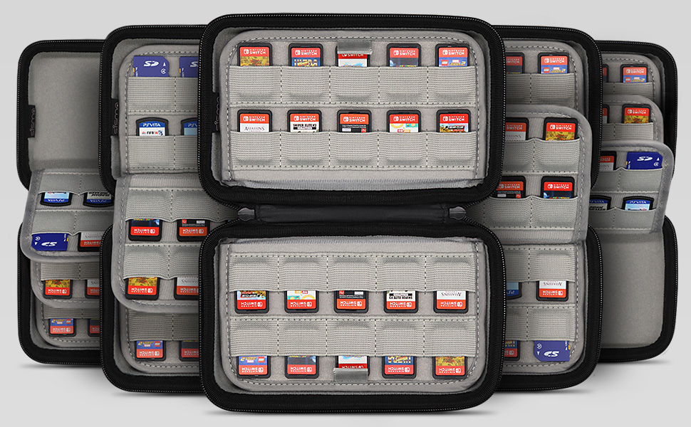 nintendo switch ps vita games case cartridge holder storage