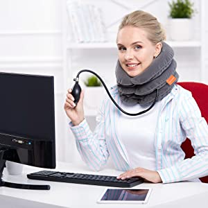 Neck traction device, neck traction, cervical neck traction device, neck brace, neck stretcher
