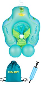 Obuby Baby Swimming Float Ring Inflatable Neck Pool Floats with Safe Bottom Swim Water Toys Toddler
