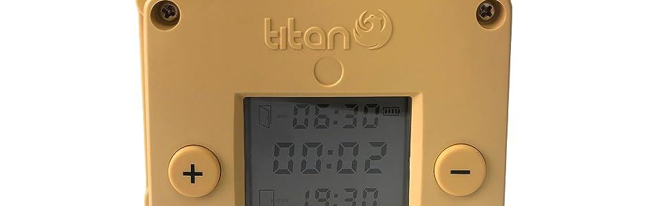 Titan Incubators Cube Apertura//Chiusura Automatica per pollaio con Timer