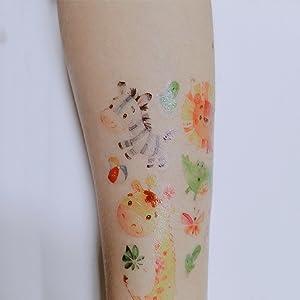 SZSMART 20 Hojas Tatuajes Animales niños Tatuajes temporales de ...