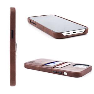 Dockem - Funda tipo cartera para iPhone 12 Pro Max (piel sintética, 2 ranuras), color marrón