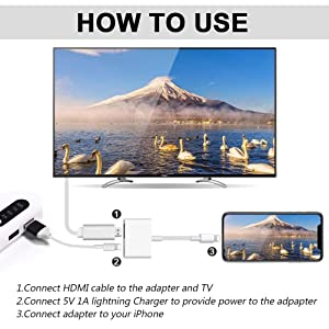 1080P Lightning to HDMI Fasting Digital AV TV Adapter Cable FOR Iphone 6 7 8 Plus X Xs Max Ipad