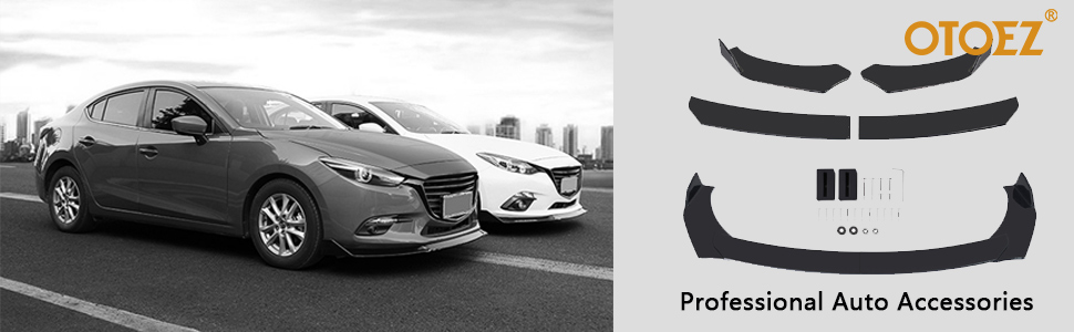 otoez universal front bumper lip splitter fit Mazda Subaru vw lexus Audi BMW Ford Honda Toyota