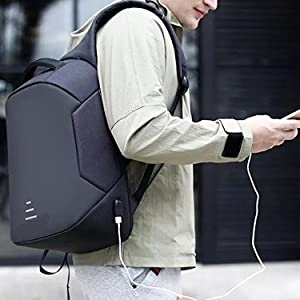 Polyester Anti Theft Water Resistant Premium Backpack with USB Charging Point